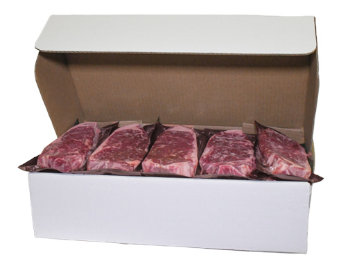Ontario steaks in white Farmway Foods box