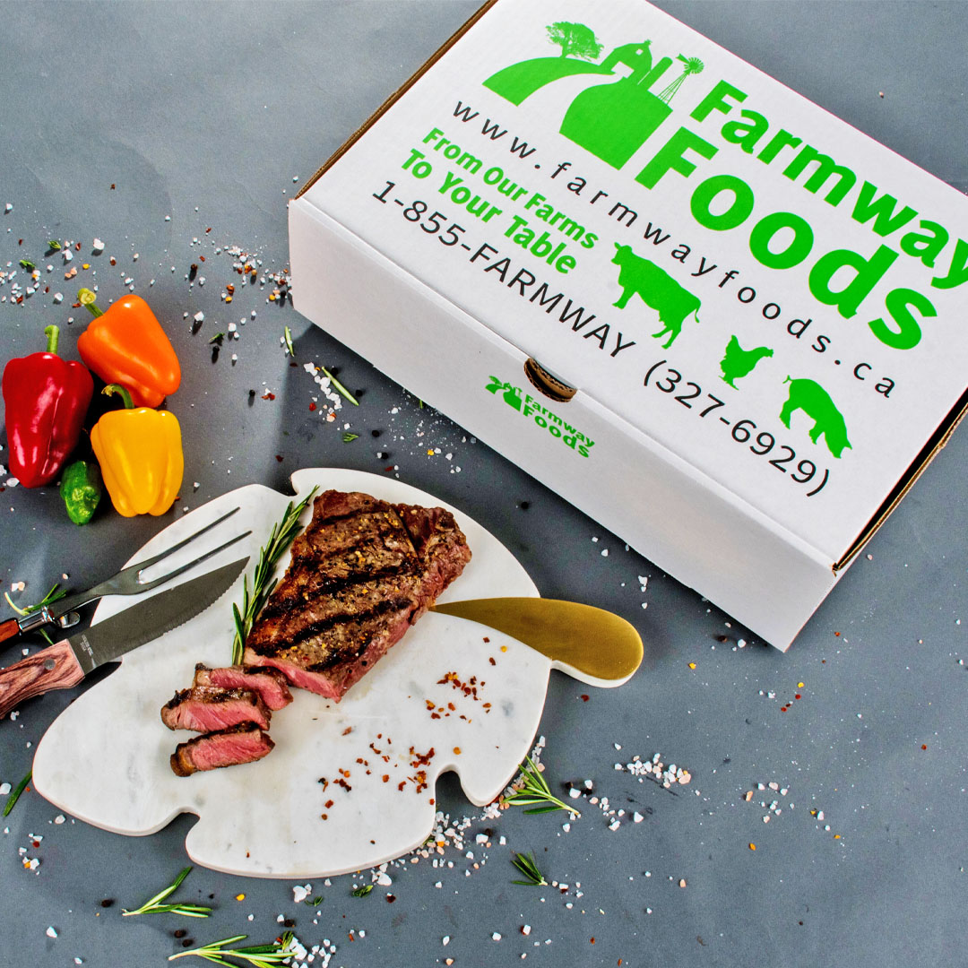 Farmway Foods steak from Ontario grass-fed beef