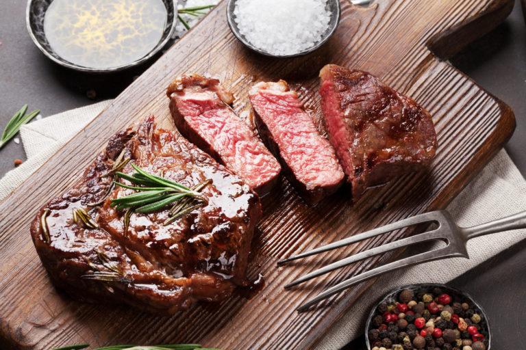 Ontario grass-fed beef steak