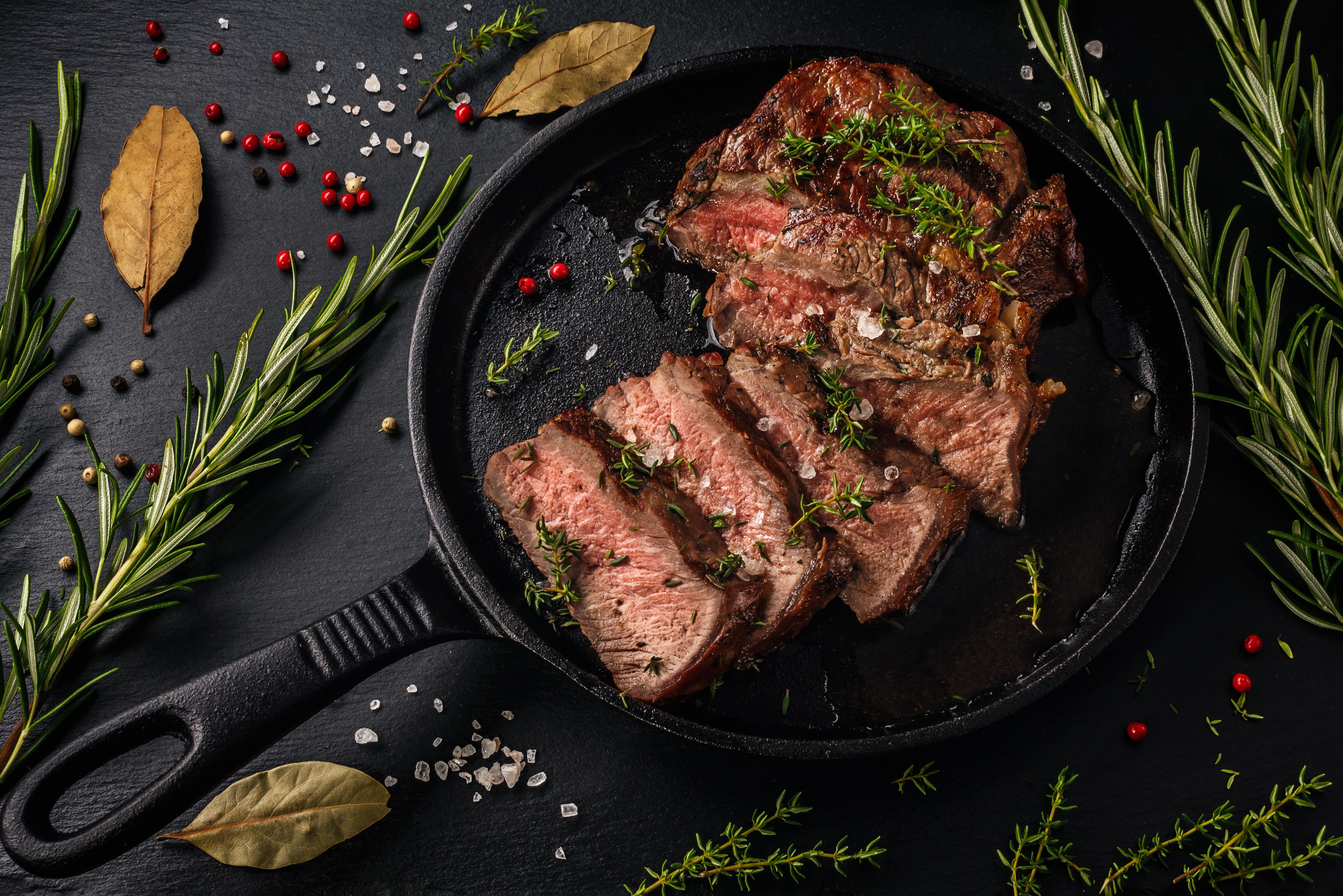 Ontario Beef Steak On Skillet